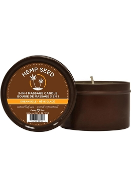Earthly Body Hemp Seed 3 In 1 Massage Candle - Dreamsicle  6oz