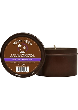 Earthly Body Hemp Seed 3 In 1 Massage Candle - High Tide  6oz