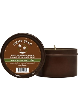 Earthly Body Hemp Seed 3 In 1 Massage Candle - Guavalava 6oz