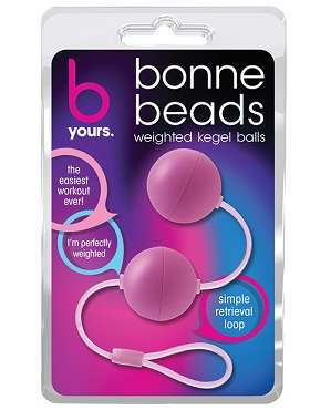 Bonne Beads Weighted Kegel Balls - Pink