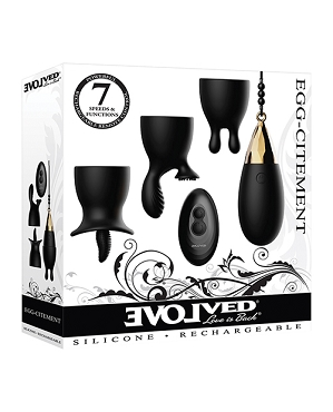Egg Citement Rechargeable Bullet - Black/Gold