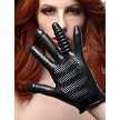 Pleasure Poker Textured Glove - Black
